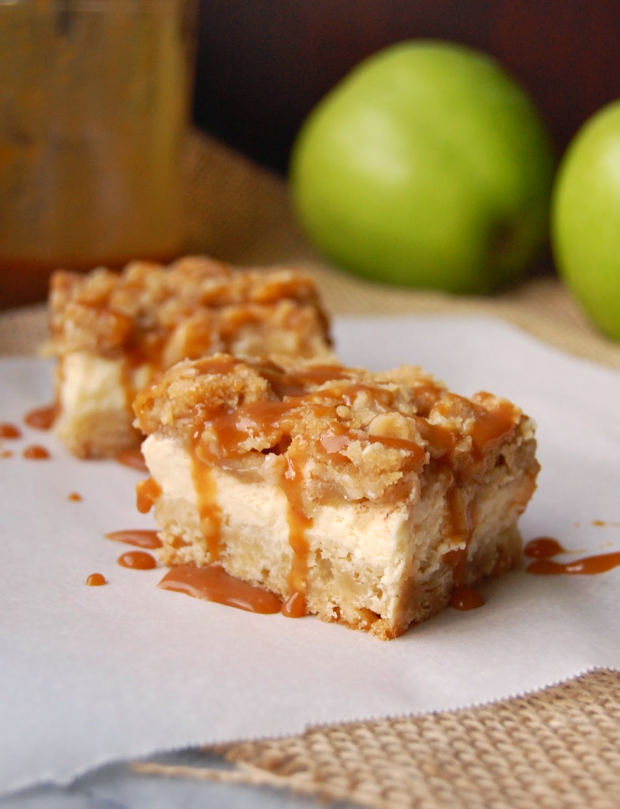 Much Kneaded: Caramel Apple Cheesecake Bars