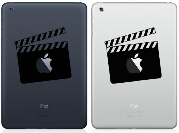 Movie Clapper Board iPad Mini Decals