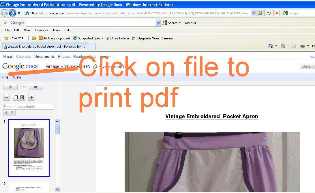 Printing pdf