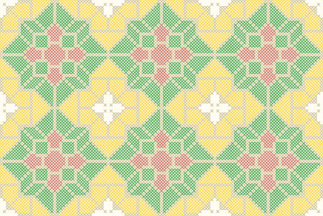 Free Belgian Tile Cross Stitch Pattern by homestitchness