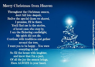 Clean image with merry christmas from heaven poem printable