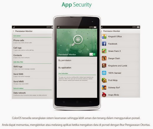 OPPO Yoyo dengan App Security