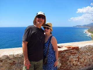 Santiago de Cuba Pedro and Kat at El Morro