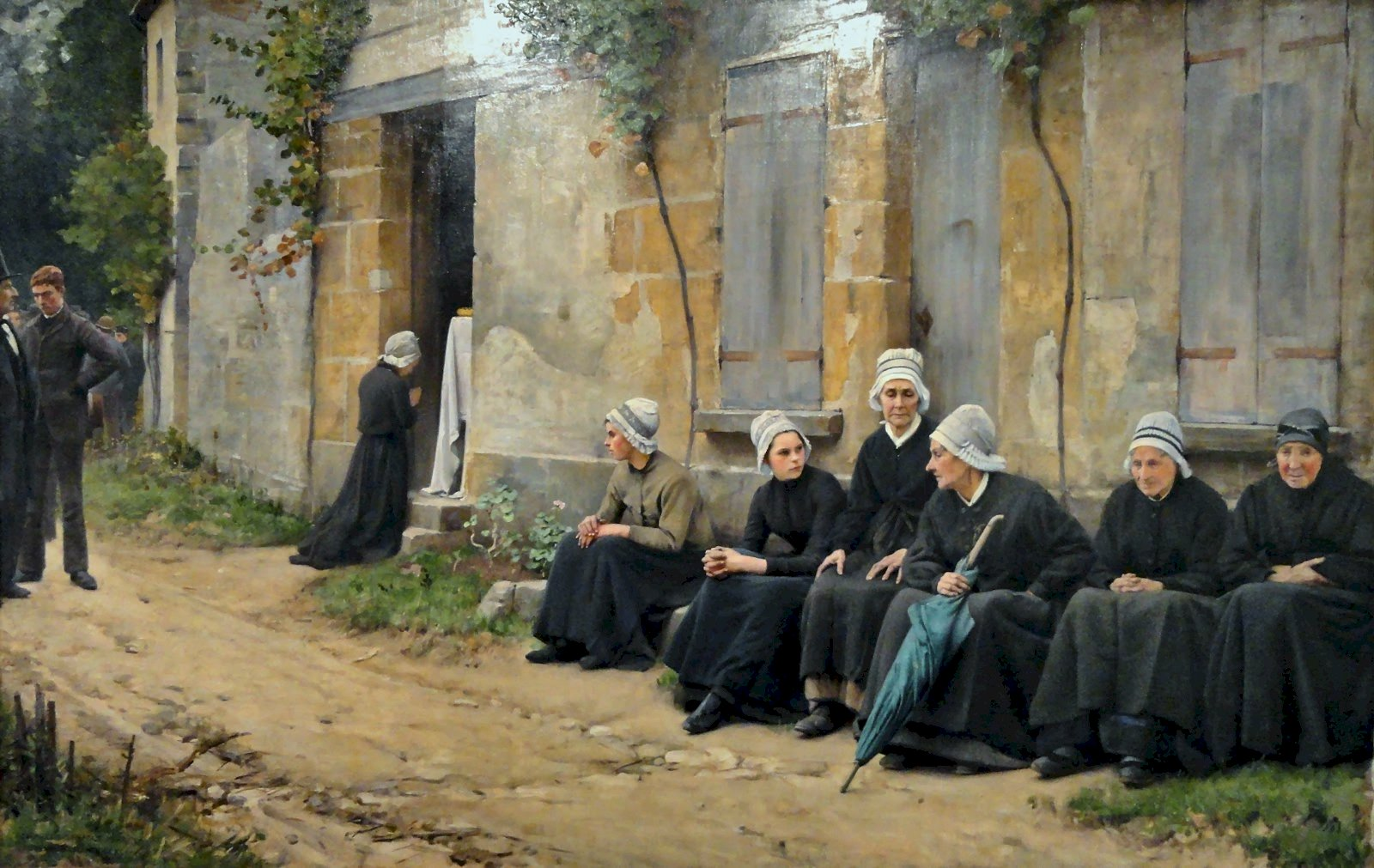 Charles  Sprague  Pearce  a  village  funeral  in  brittany