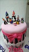 Pingu's Penguin Ribbon Cake