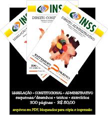 INSS - CONSTITUCIONAL + ADMNISTRATIVO + LEGISLAÇÃO PREVIDENCIÁRIA -  R$ 80,00 (PDF)