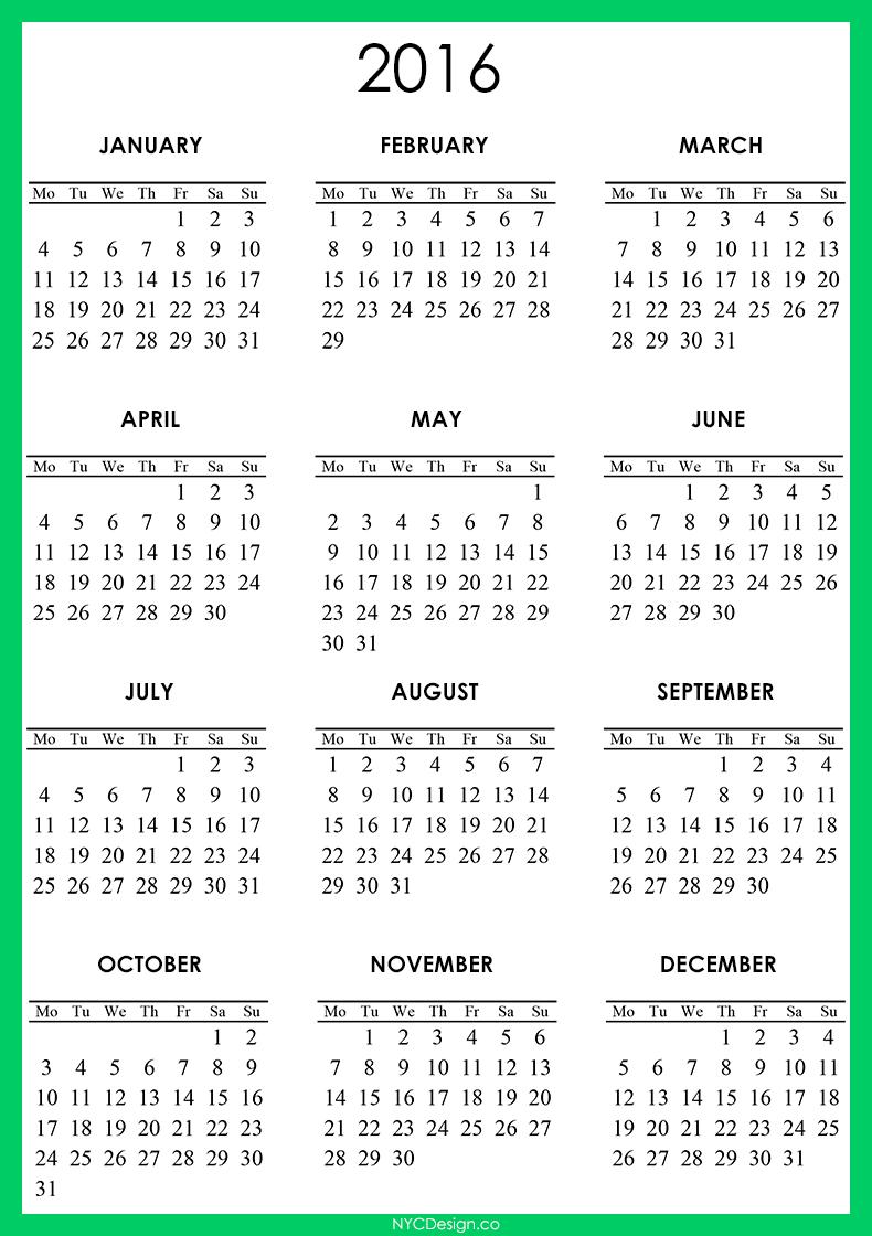 Typography Calendar Free : New york web design studio ny calendar