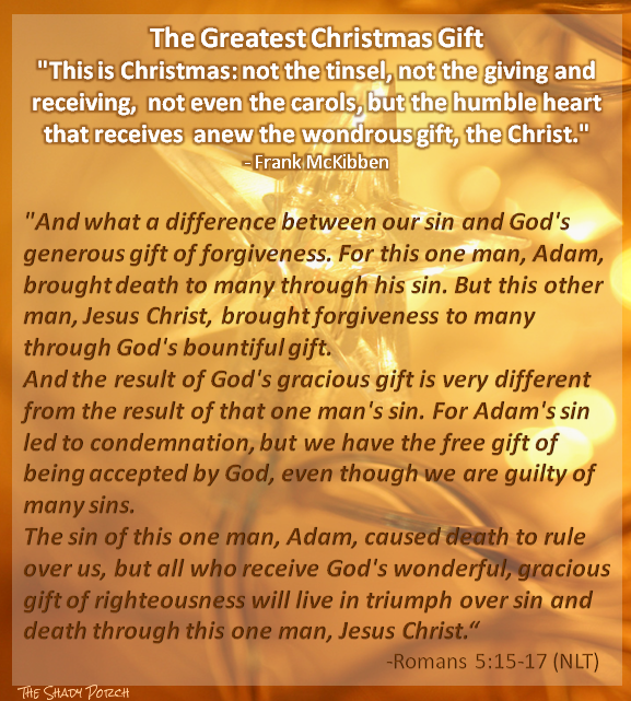 Greatest Christmas Gift: Jesus Romans 5:15-17