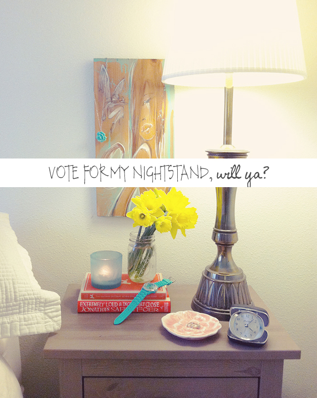 Vote for Lesley Myrick on Emily Henderson and Serena & Lilys Nightstand Styling Contest