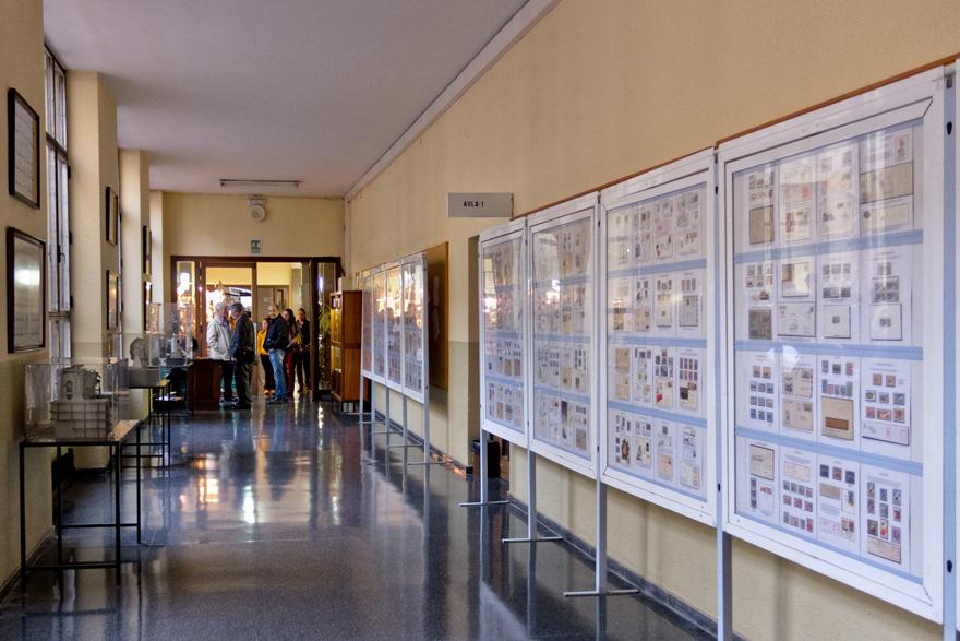 Exposición filatélica en el 25 aniversario del Certamen de Minerales, Gemas y Fósiles de la Escuela de Minas, Oviedo
