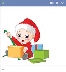 Christmas baby Facebook sticker
