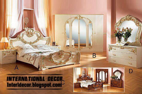 classic wooden bedroom furniture models and designs in white colors