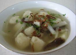 resep dan cara membuat tekwan, makanan khas palembang, baso daging tekwan, tekwan palembang, bahan-bahan membuat tekwan