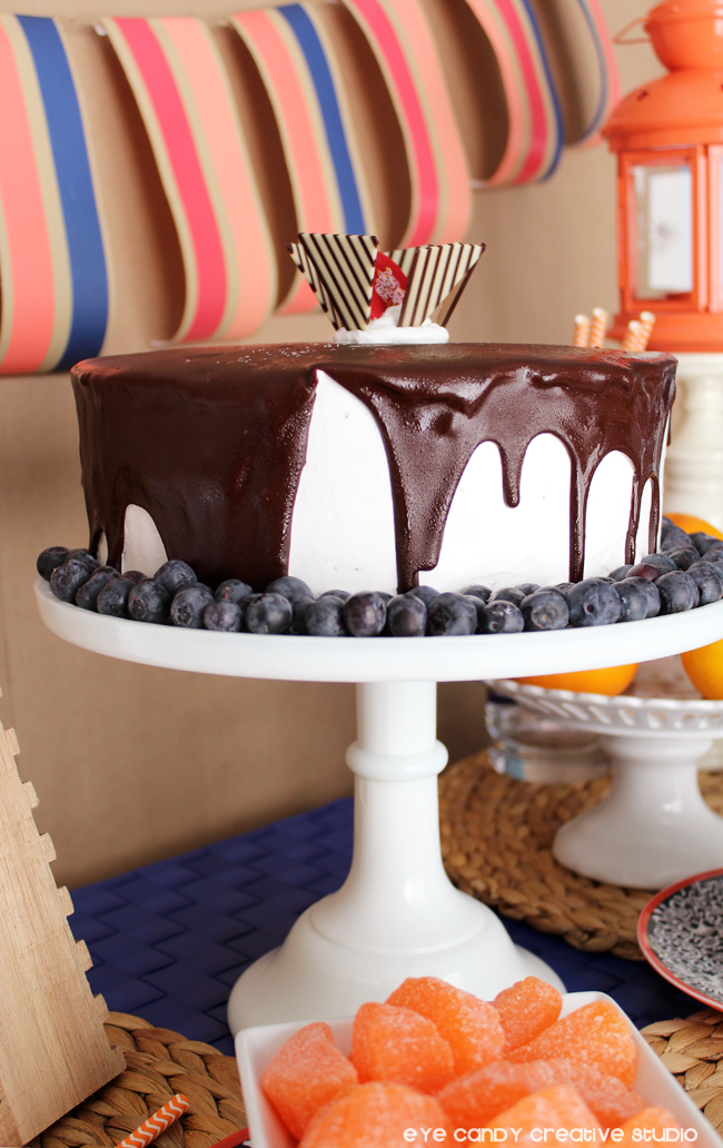 ice cream cake, cake stand, Cold Stone, dessert table ideas, Father's Day