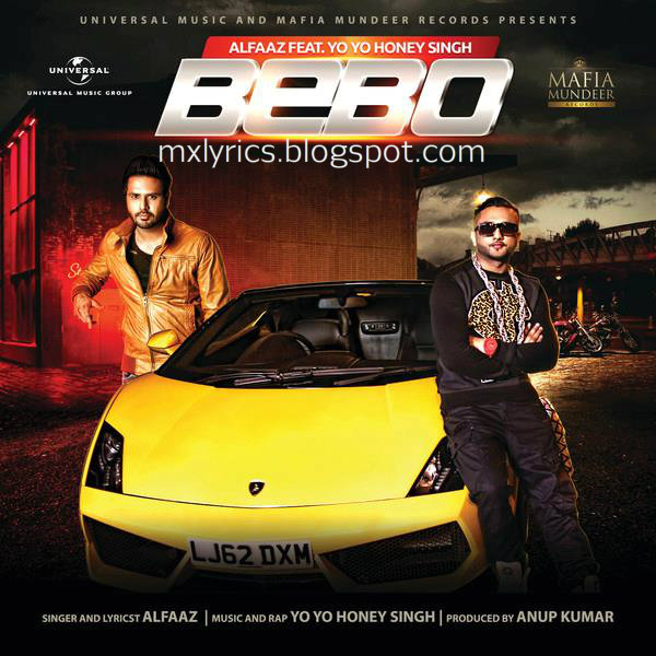 BEBO Lyrics Music Video By ALFAAZ ft. HONEY SINGH