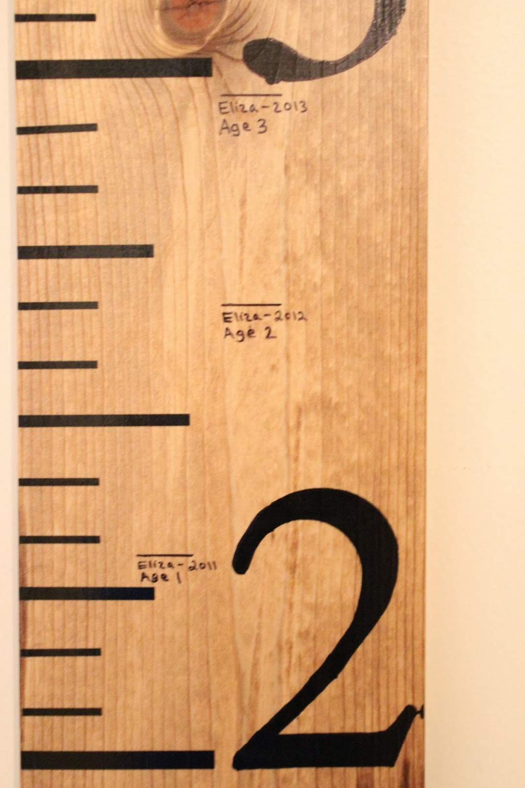 Mommy vignettes wood growth chart tutorial our daughter was thrilled to see how tall she was on the growth chart we are so excited to mark our daughters growth throughout the years nvjuhfo Images