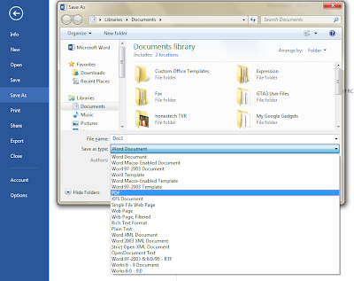 all file format will appear select the pdf and click save your file ...
