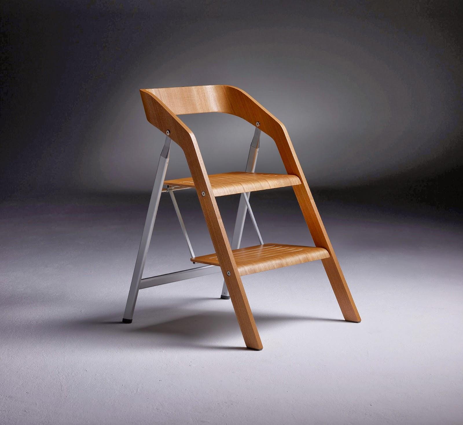 Marzua silla escalera para cualquier estancia for Silla escalera de madera