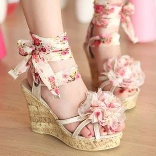 sapato florido