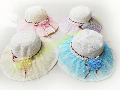 topi pantai bunga bulat