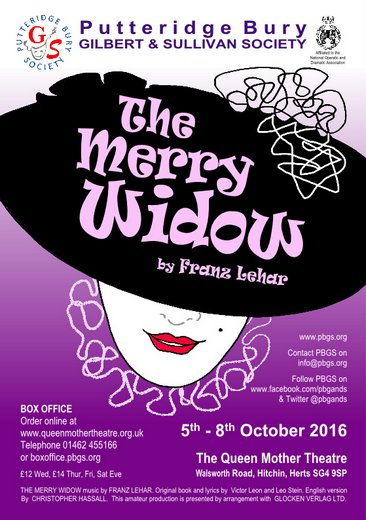 5-8 OCTOBER 2016: THE MERRY WIDOW