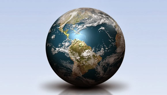 Shiny Earth with Photoshop 3D Layers