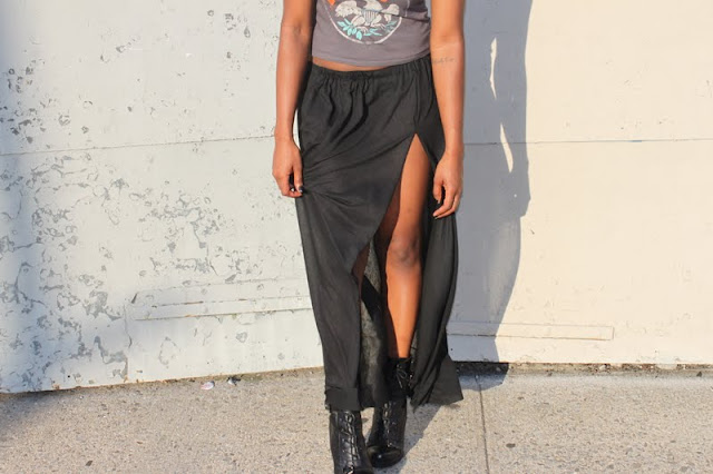 Taylor and Demolish: DIY High Slit Skirt