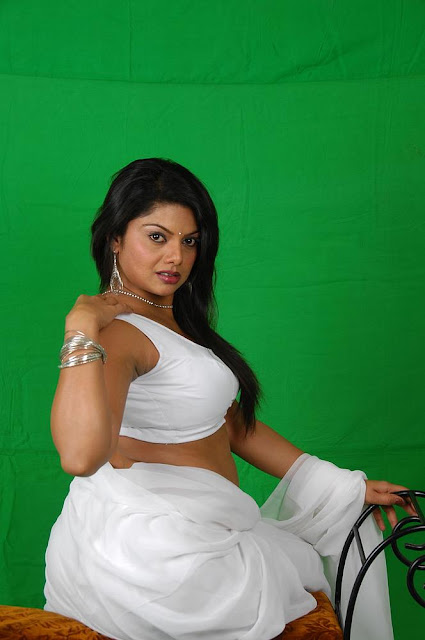 Swathi Verma White Saree