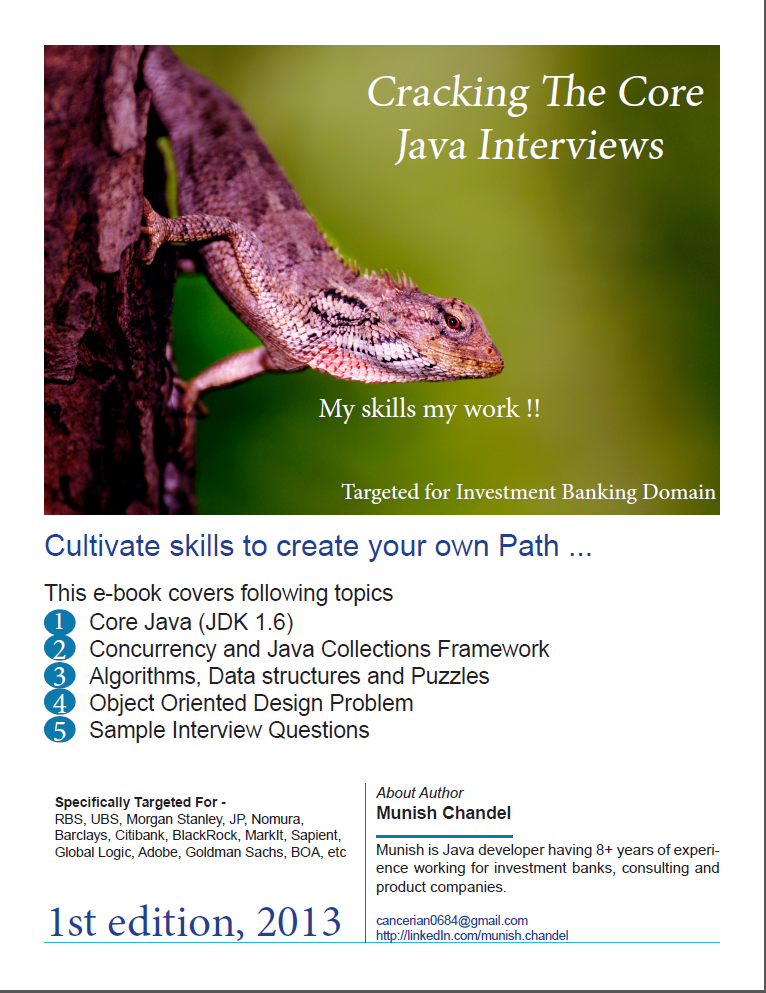 Buy eBook - Cracking the Core Java Interviews
