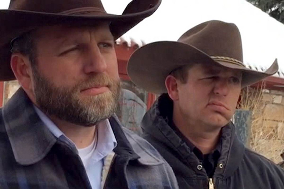 "Ammon (left) and Ryan Bundy: Leaders of the ""militiamen"" who took over an Oregon wildlife refuge by force of arms. Both are now under arrest after a shootout that left one of their followers dead."