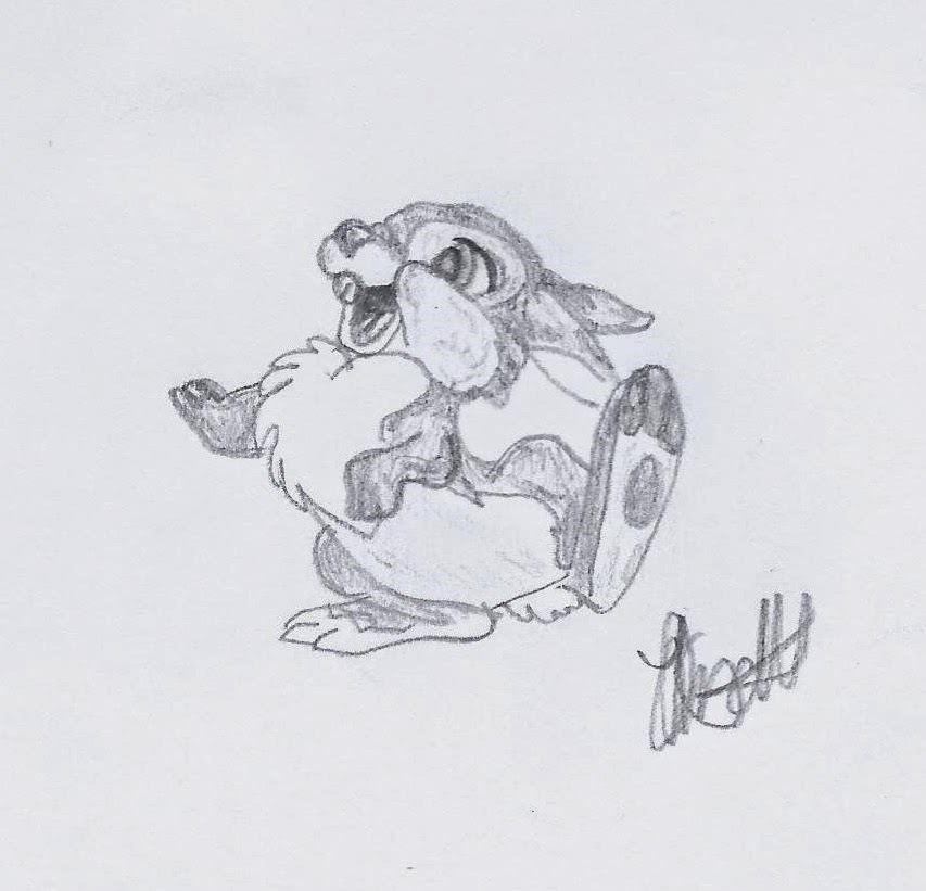 Disney illustration study by Jo Linsdell, Thumper