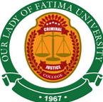 our lady of fatima university criminal justice logo