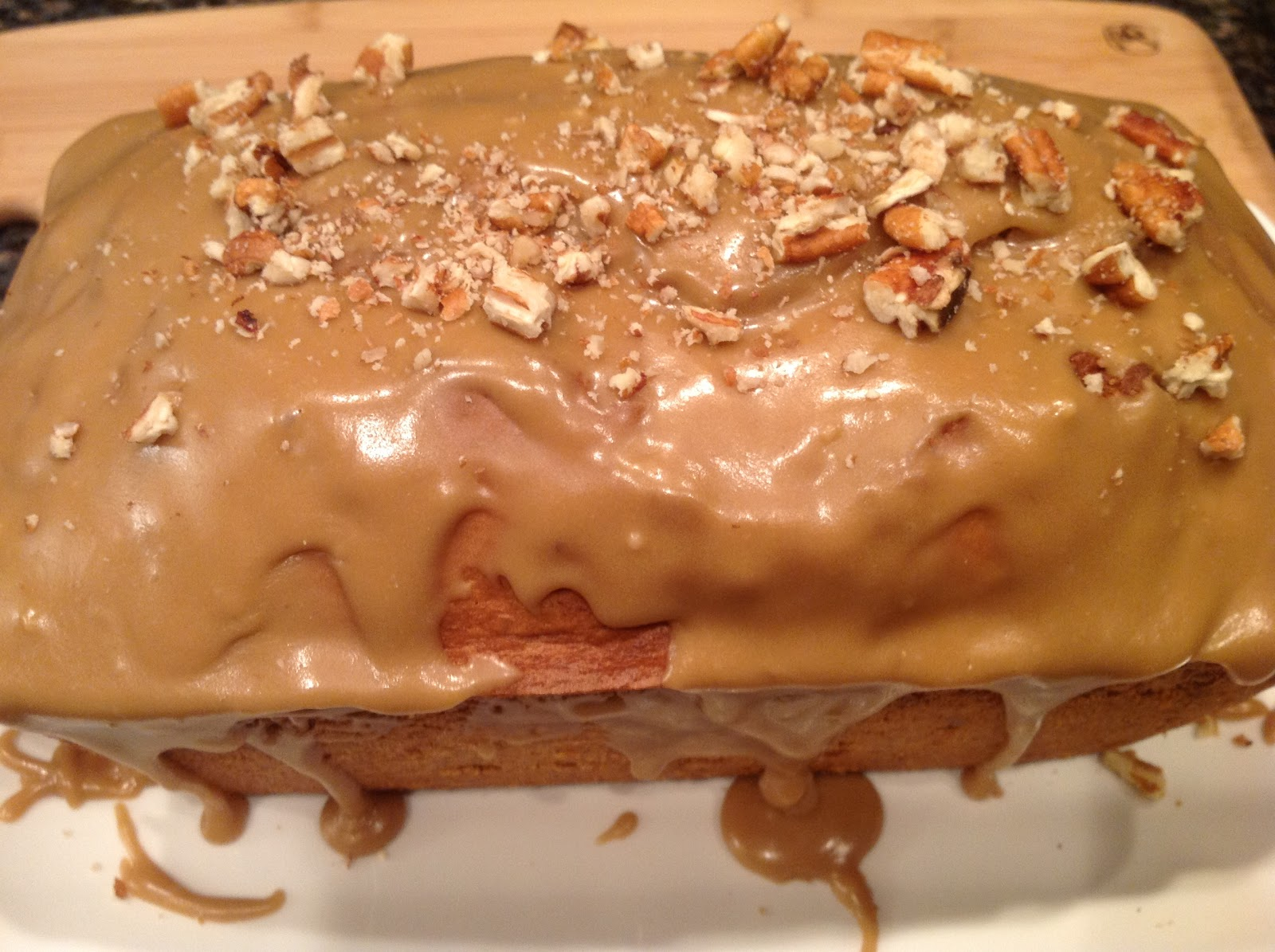 Craving Something Good: Easy Banana Nut Bread with Caramel Frosting