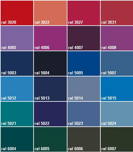 Correspondance couleur peinture ral for Peinture nuancier