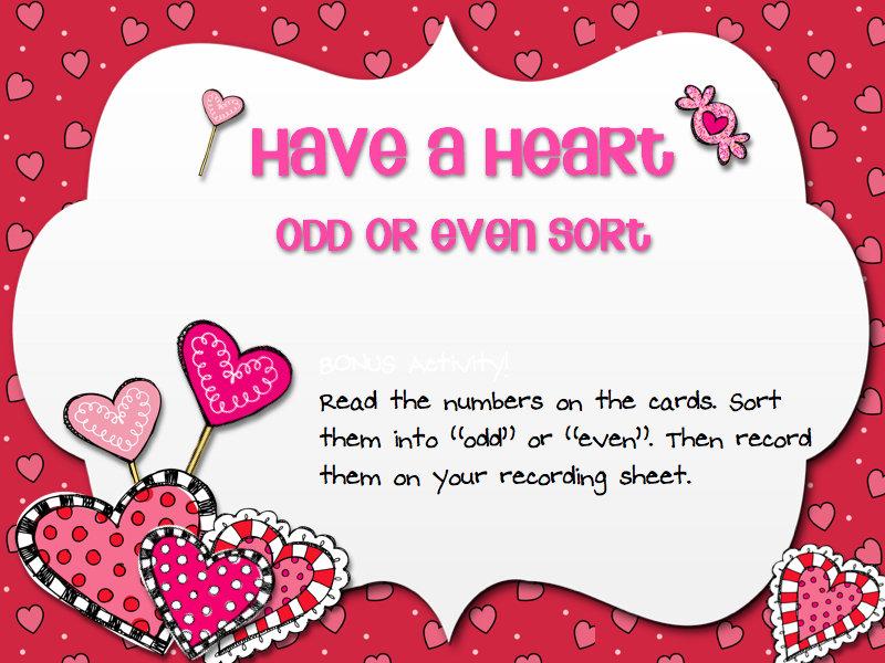 3 6 Free Resources Valentine S Day Odd Even Sort