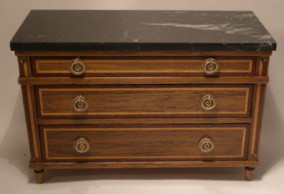 miniature chest of drawers with marble top