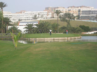 Las Palmeras golf hoyo 15 green en isla