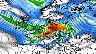 Sturm / Orkan Deutschland am Montag, 5. Dezember 2011 könnte Hurrikan Kategorie 1 entsprechen
