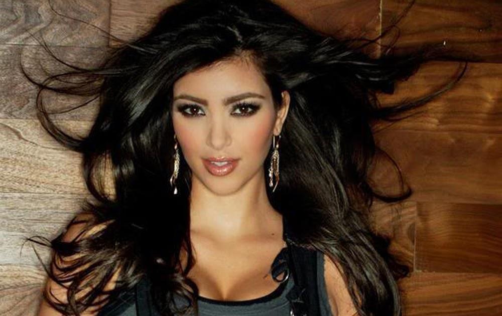 kim kardashian dark hair color