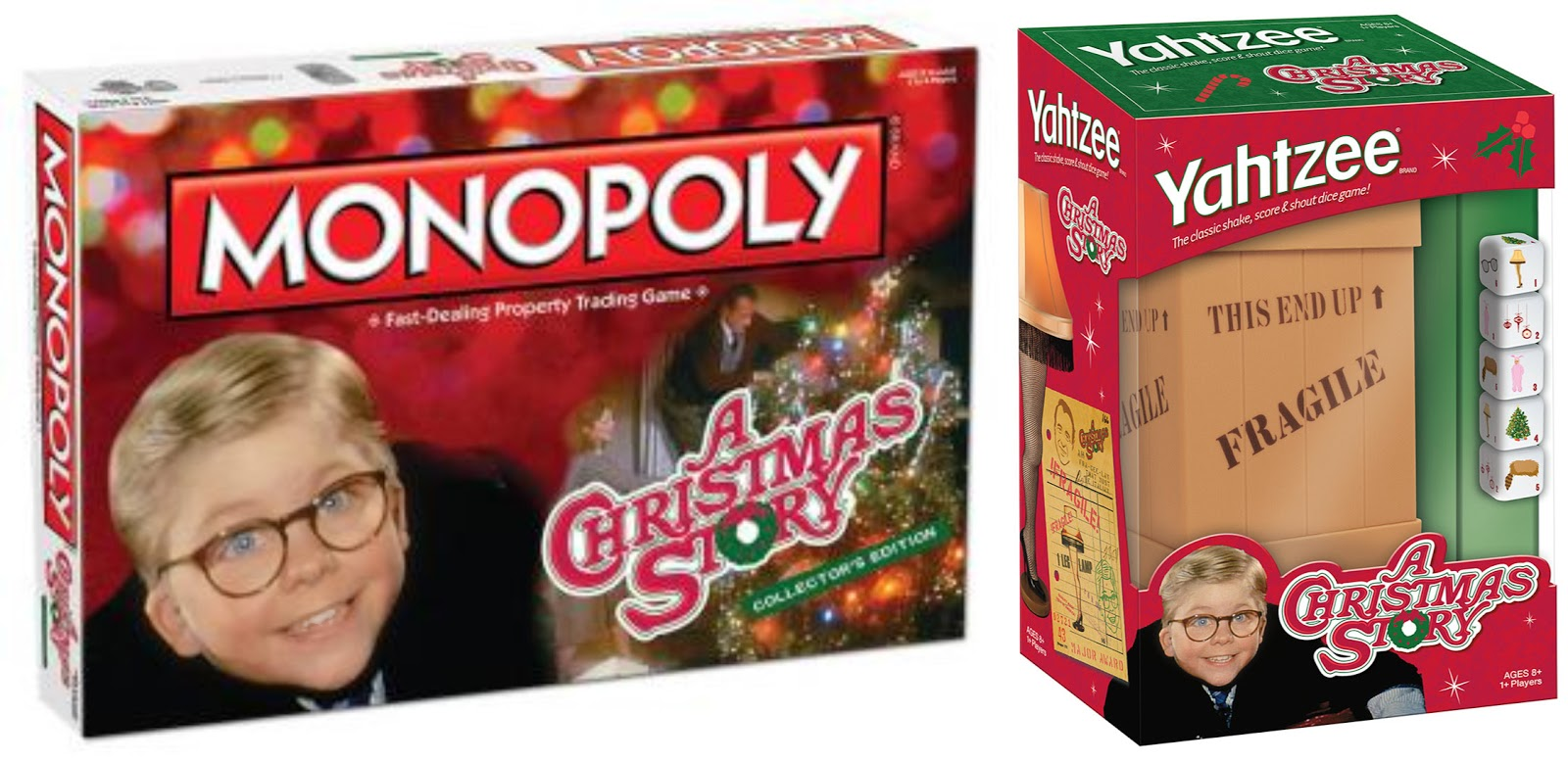 Enter the A Christmas Story Monopoly and Yahtzee Giveaway. Ends 1/3/15.