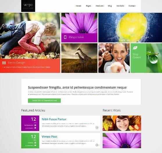 Metpo Modern Responsive Retina WordPress Theme