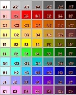 Skema warna tudung plain