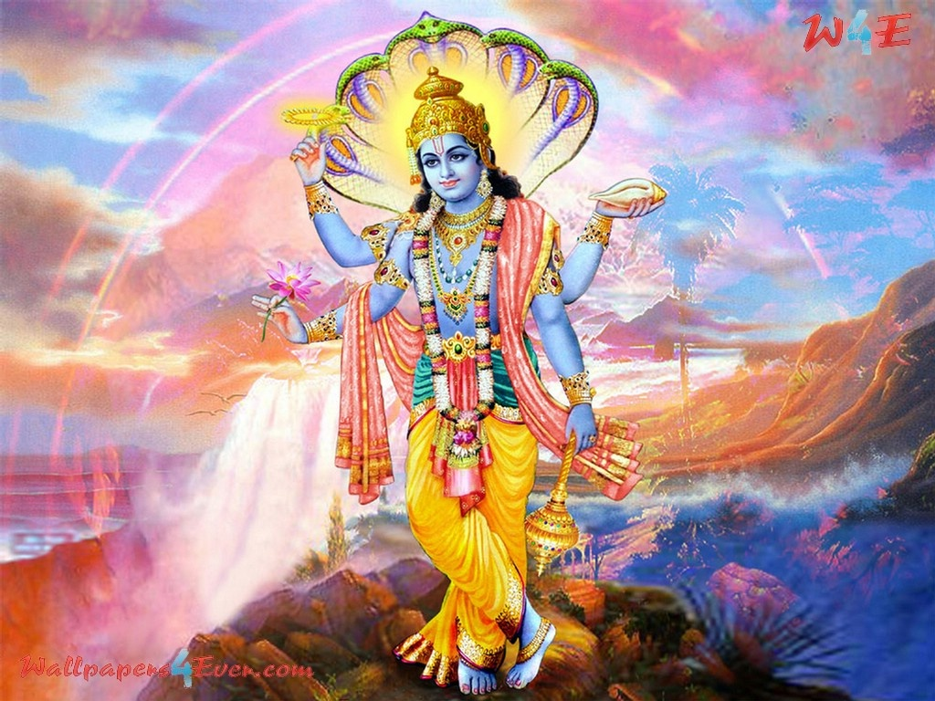 Lord Vishnu Qayamati Beautiful Sundar Images God Wallpaper