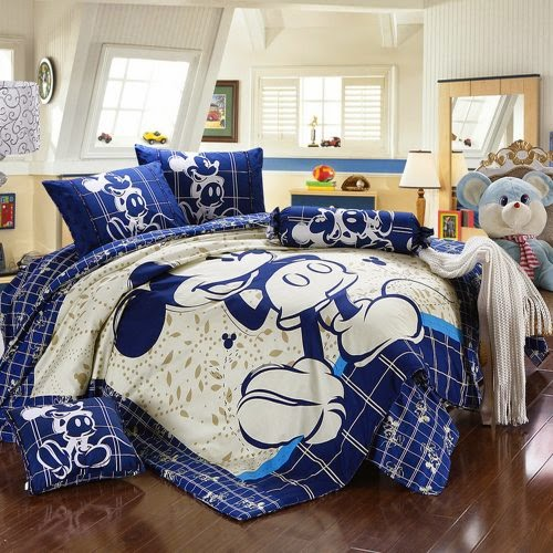 White Blue Linens Doona Duvet Cover and 2 Pillowcase