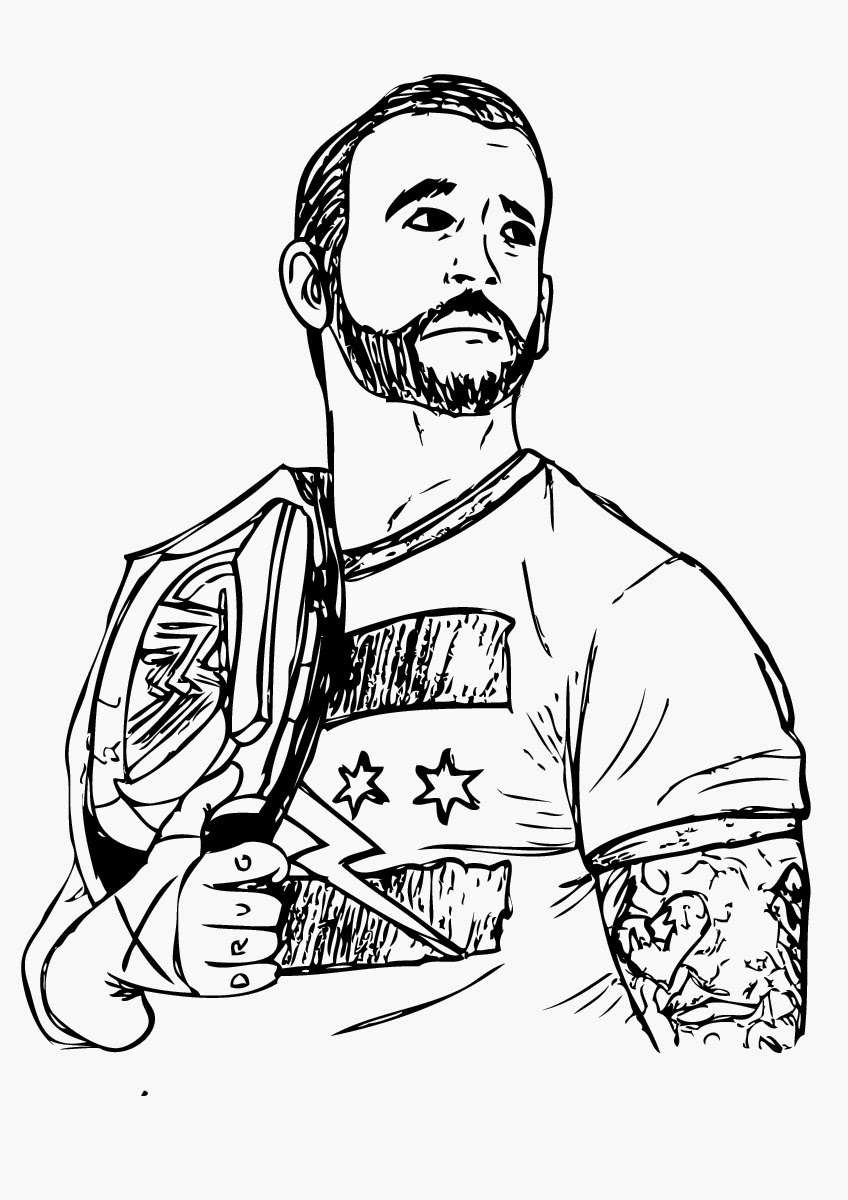 coloring pages wwe - photo#4