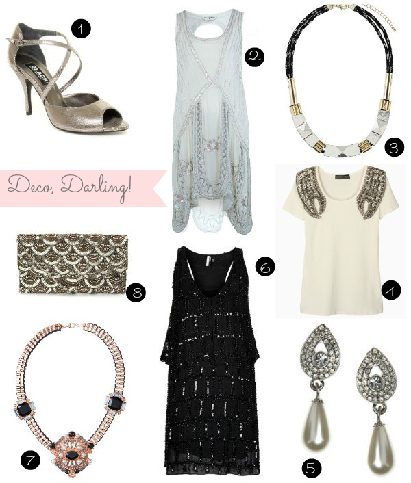 Great Gatsby inspired 20s fashion inspiration board