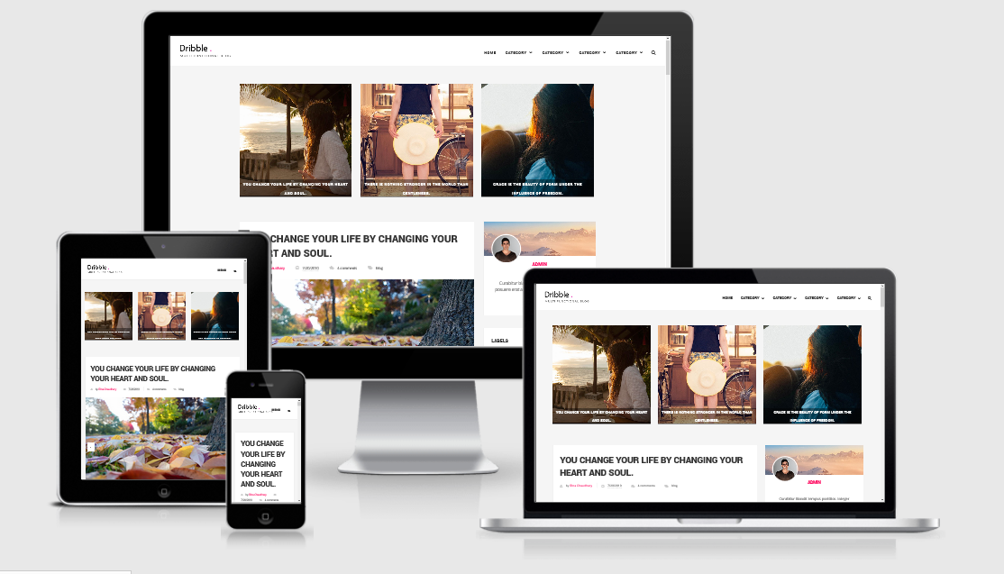 Dribble Clean Responsive Blogger Template