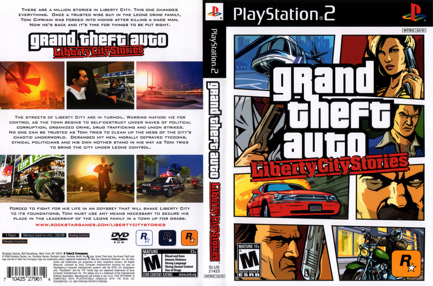 Grand Theft Auto Liberty City Stories Capa