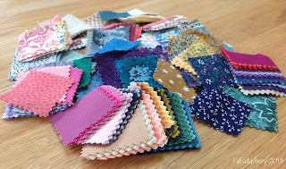 "Fabric Charm Squares, 1"" - 2"" square"