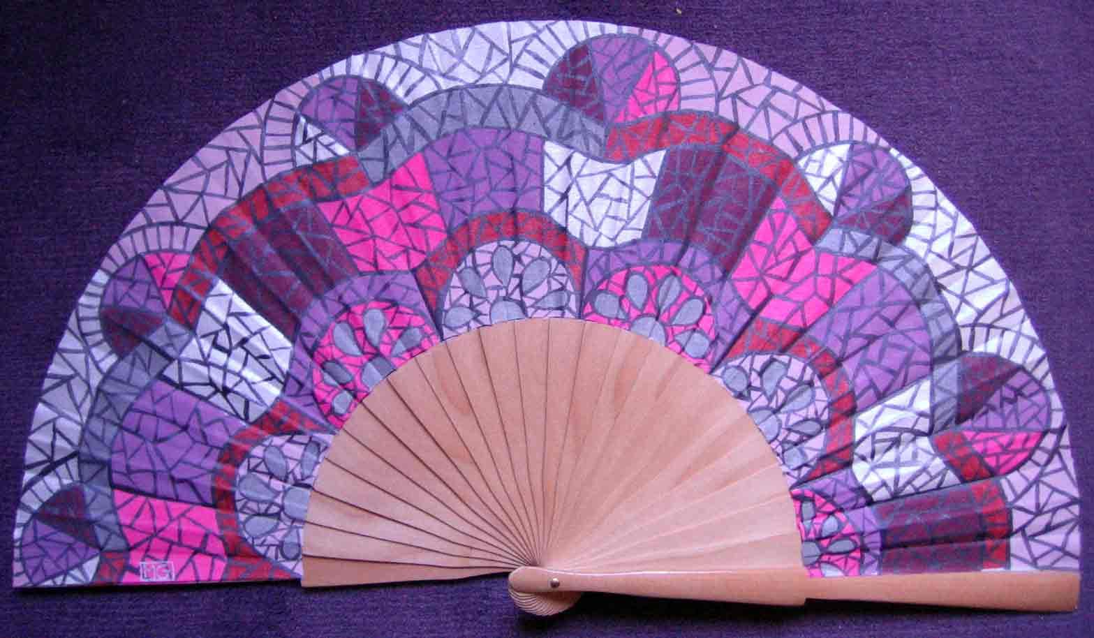 Menchu gamero abanicos pintados a mano con motivos - Abanicos pintados a mano originales ...